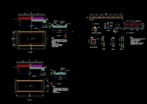 园林景观节点园桥详细设计cad施工图