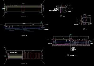 园林景观节点园桥素材详细设计cad施工图
