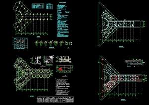 园林景观节点园桥设计cad方案图