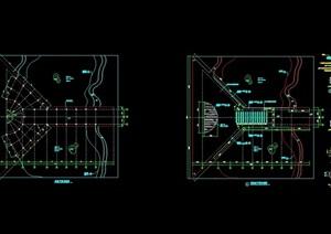 现代园林景观节点园桥设计cad施工图