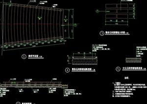 园林景观节点旱桥设计cad施工图