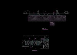 园林景观详细的道路素材设计cad施工图