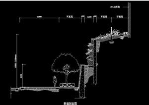 园林景观挡墙独特详细设计cad施工图