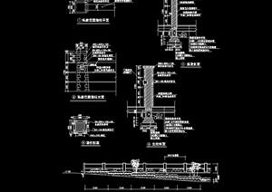 现代详细的围墙猪设计cad施工图