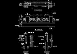 现代详细的围栏围墙设计cad施工图