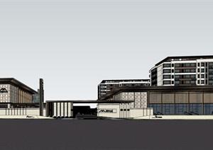 某新中式豪宅洋房 示范区SU(草图大师)精细模型