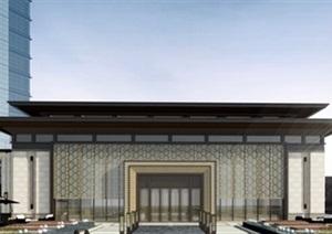 某中式风格售楼部示范区SU(草图大师)精细模型