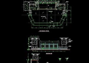 某详细的舞台及用房素材设计cad施工图
