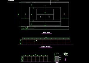 园林景观节点网球场素材cad施工图