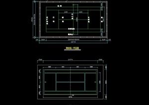 园林景观网球场详细节点素材cad施工图