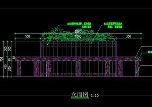 可移动圆形防腐木木花池花箱树池树穴树箱施工图详图