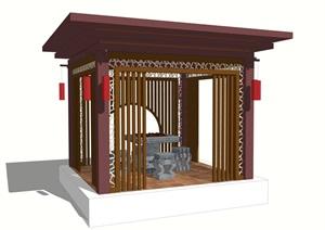 新中式景观亭设计cad施工图