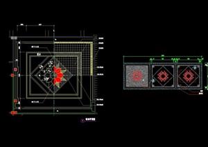 園林景觀節點鋪裝拼花圖案設計cad施工圖