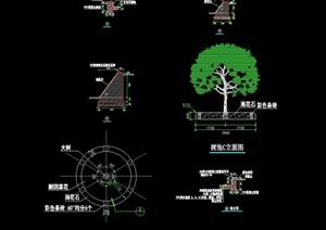 现代园林景观节点树池设计cad施工图