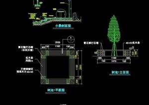 现代园林景观树池详细节点cad施工图