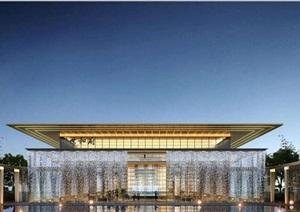 某现代风格豪宅项目售楼处SU(草图大师)精细模型