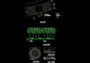 详细的园林景观树池详细节点cad施工图