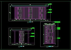 新中式现代中式景观亭子廊架花架铝板造型施工图详图