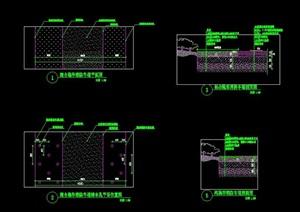 混合隐形隐性消防车道剖面断面做法施工图