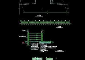 现代园林景观围栏杆节点素材cad施工图