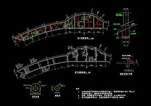 园林景观木栈道节点素材cad施工图