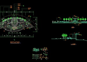 园林景观平台节点素材cad施工图