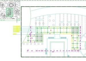 现代木平台cad方案