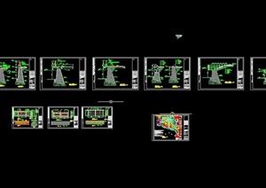 详细的整体完整驳岸素材cad施工图