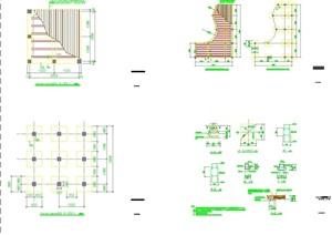 详细的方形木平台设计cad施工图