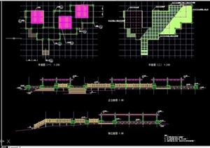 详细的栏杆素材cad节点图