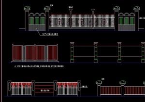 围栏素材设计cad方案