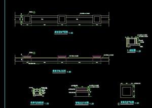 斜坡花池景观设计cad施工图