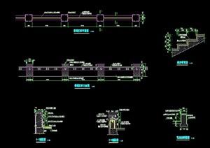 景观栏杆详细完整设计cad施工图