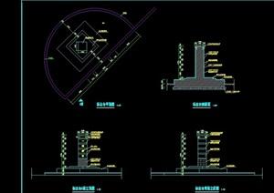 标志台详细设计cad施工大样图