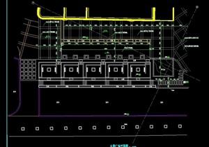 水景商业广场设计cad平面图