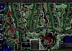 园林住宅小区景观设计cad方案图