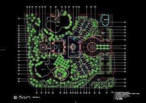 园林售楼处详细景观设计cad方案