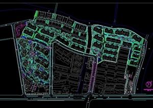 某详细的住宅小区绿化种植cad总平面图
