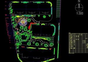 现代风格园林景观庭院设计cad施工图