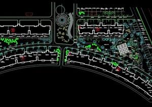 某详细的住宅小区绿化cad种植图