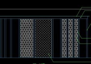 新中式异型艺术钢结构玻璃顶铁艺雕花廊架景观亭花架施工图详图