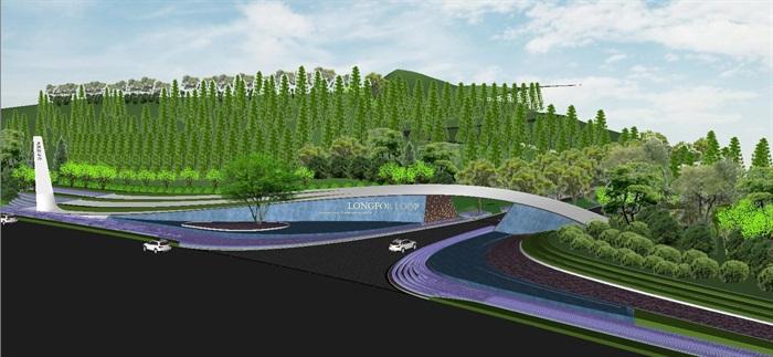 重庆渝北照母山龙湖·舜山府售楼示范区SU模型(附示范区整套CAD景观施工图+方案介绍视频)(8)
