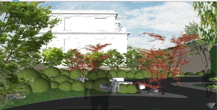重庆渝北照母山龙湖·舜山府售楼示范区SU模型(附示范区整套CAD景观施工图+方案介绍视频)(12)