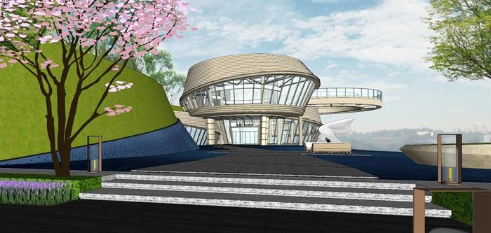 重庆渝北照母山龙湖·舜山府售楼示范区SU模型(附示范区整套CAD景观施工图+方案介绍视频)(14)