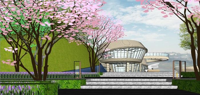 重庆渝北照母山龙湖·舜山府售楼示范区SU模型(附示范区整套CAD景观施工图+方案介绍视频)(16)