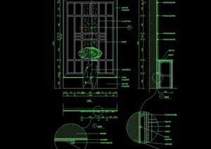 隔断墙详细完整设计cad施工图