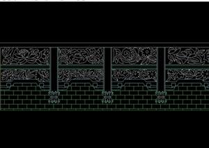 某中式砖雕墙体设计cad方案