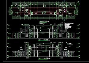 现代风格详细大门完整cad施工图