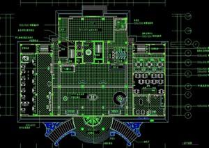 大堂详细的室内空间cad平面图