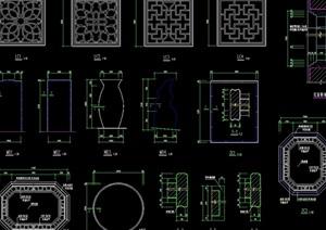 古桥诺干经典样式设计cad施工图